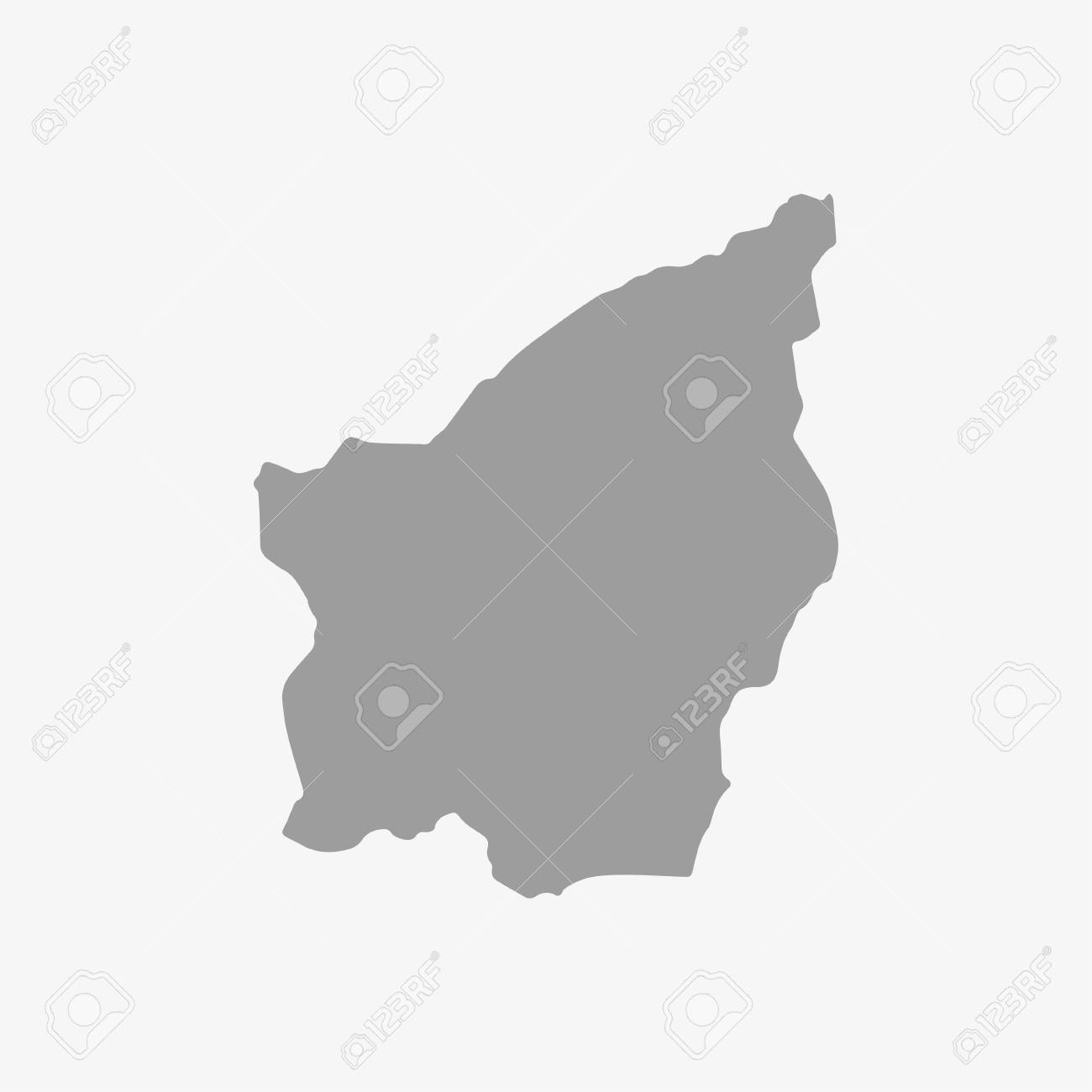 San Marino map in gray on a white background - 59803142