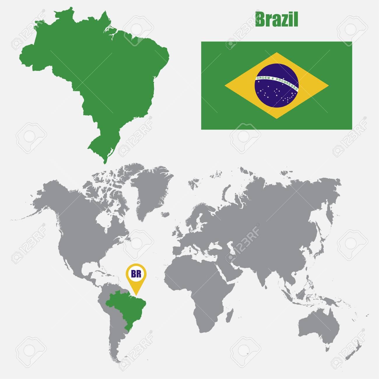 brésil carte du monde