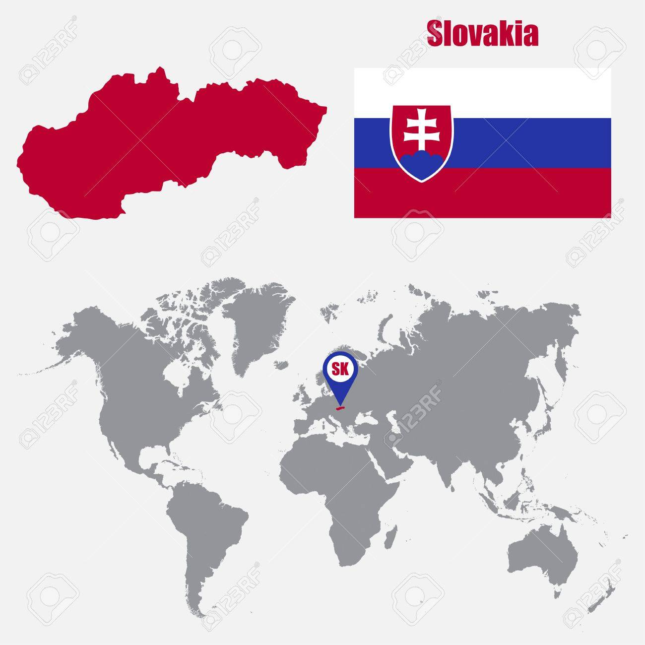 Picture of: Slovakia Map On A World Map With Flag And Map Pointer Vector Royalty Free Cliparts Vectors And Stock Illustration Image 61567639
