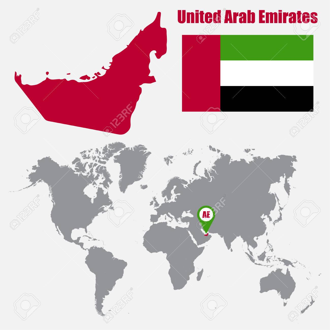 Picture of: Uae Map On A World Map With Flag And Map Pointer Vector Illustration Royalty Free Cliparts Vectors And Stock Illustration Image 62045500