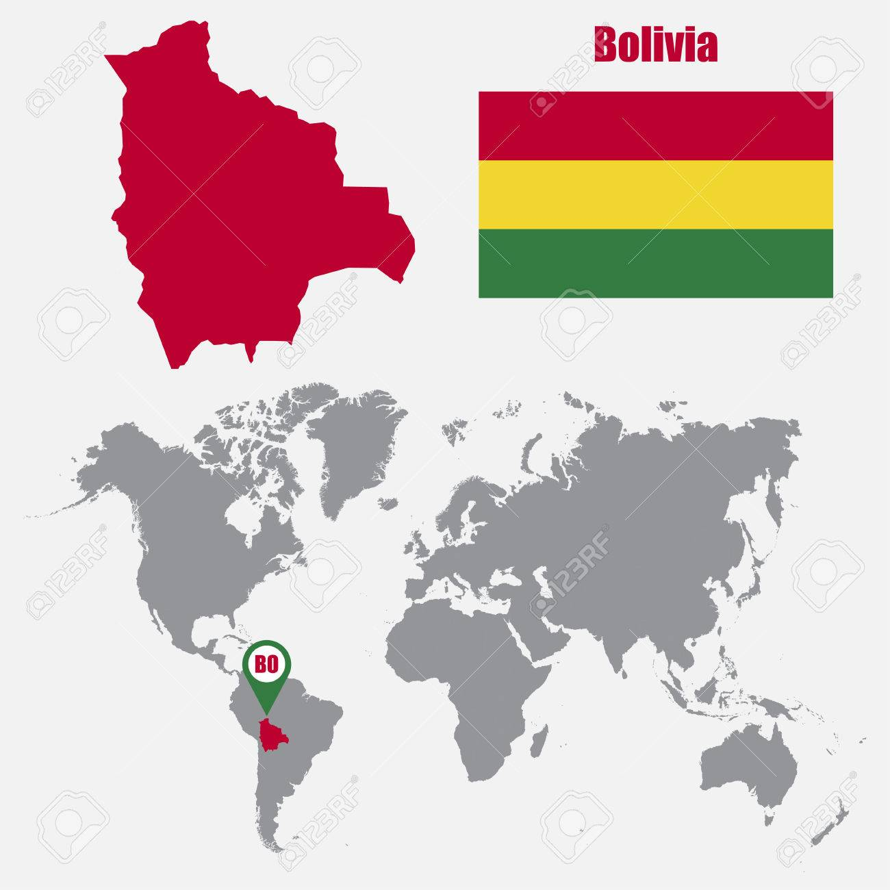 Picture of: Bolivia Map On A World Map With Flag And Map Pointer Vector Royalty Free Cliparts Vectors And Stock Illustration Image 62045533