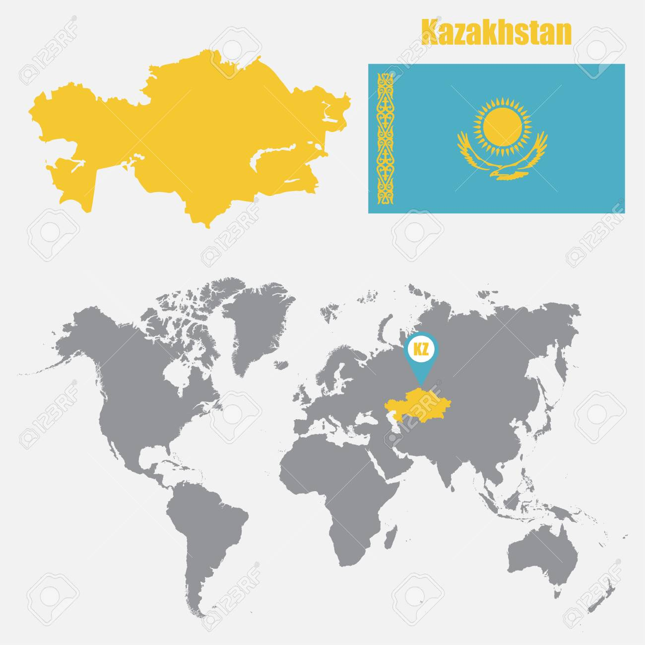 Kazakhstan map on a world map with flag and map pointer. Vector.. on morocco world map, algeria world map, panama world map, mongolia world map, india world map, pakistan world map, ukraine world map, brazil world map, caucasus mountains world map, manchuria world map, korea world map, uzbekistan world map, thailand world map, kosovo world map, new guinea world map, burma world map, nepal world map, sierra leone world map, romania world map, poland world map,