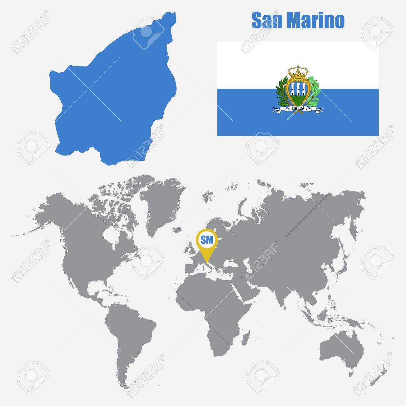 San Marino map on a world map with flag and map pointer. Vector.. on tuvalu on world map, palau on world map, japan on world map, uzbekistan on world map, malta on world map, estonia on world map, andorra on world map, slovenia on world map, djibouti on world map, luxembourg on world map, serbia on world map, liechtenstein on world map, monaco on world map, brunei on world map, liberia on world map, singapore on world map, vatican city on world map, montenegro on world map, kosovo on world map, liechtenstien on world map,