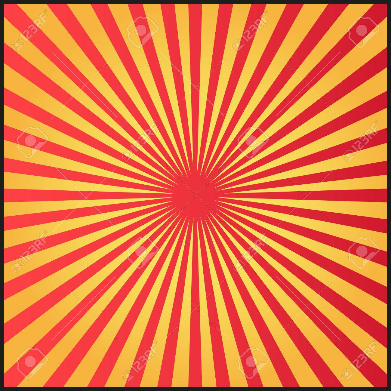 red and golden rays of vector carnival background vector