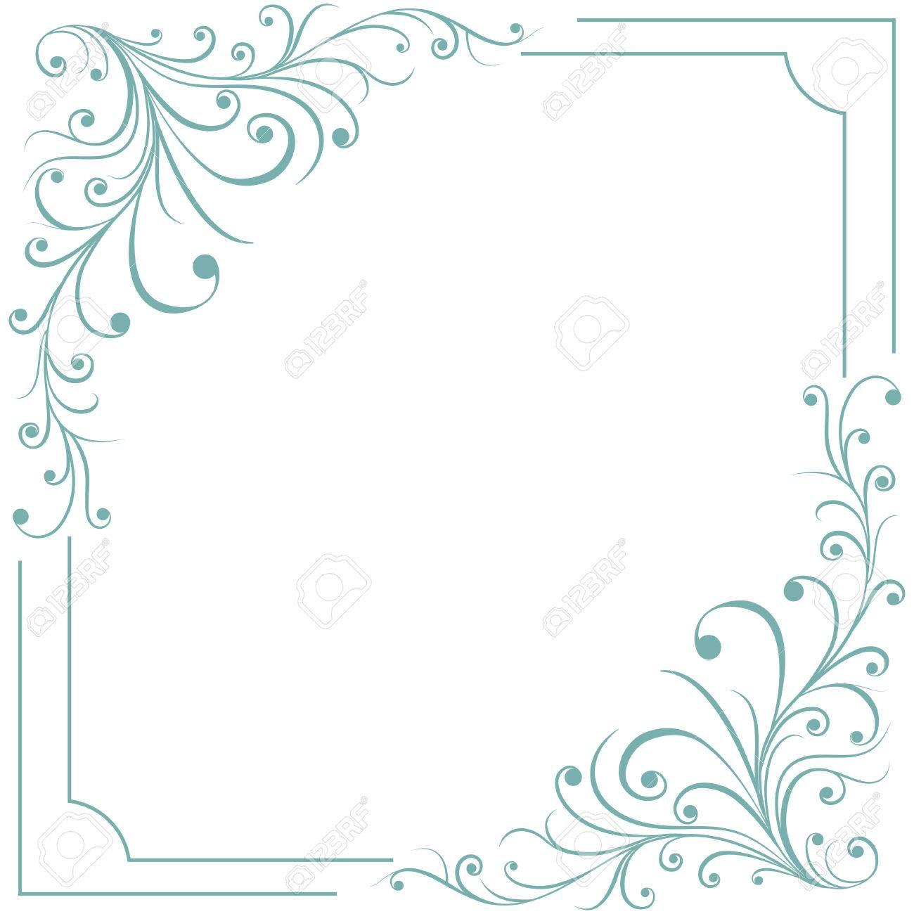 floral frame template for greeting cards invitations menus