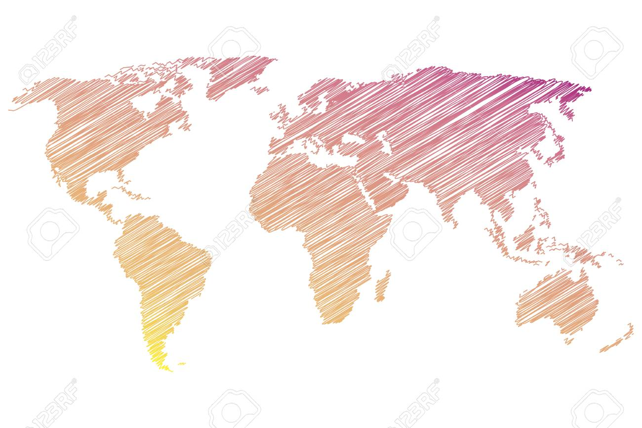 Colorful world map on a white background vector illustration colorful world map on a white background vector illustration stock vector 64411125 gumiabroncs Gallery