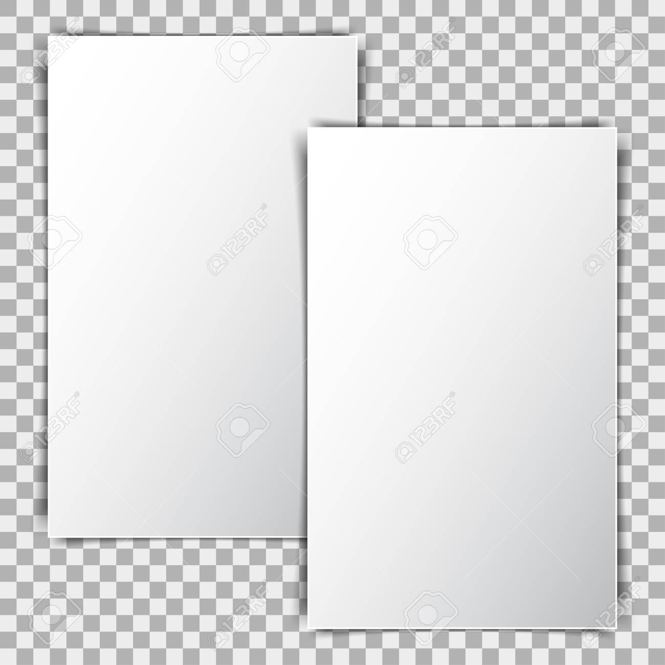 White Blank Poster Mockup Sheet Of Paper On Transparent Background