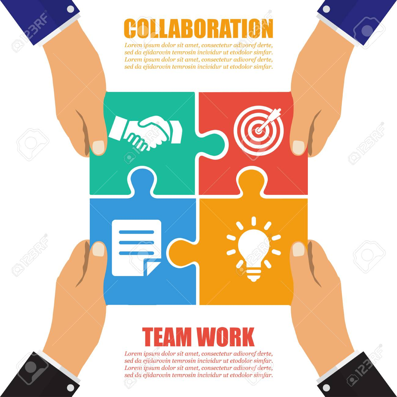 Collaboration Concept Cooperation Teamwork Successful Solution