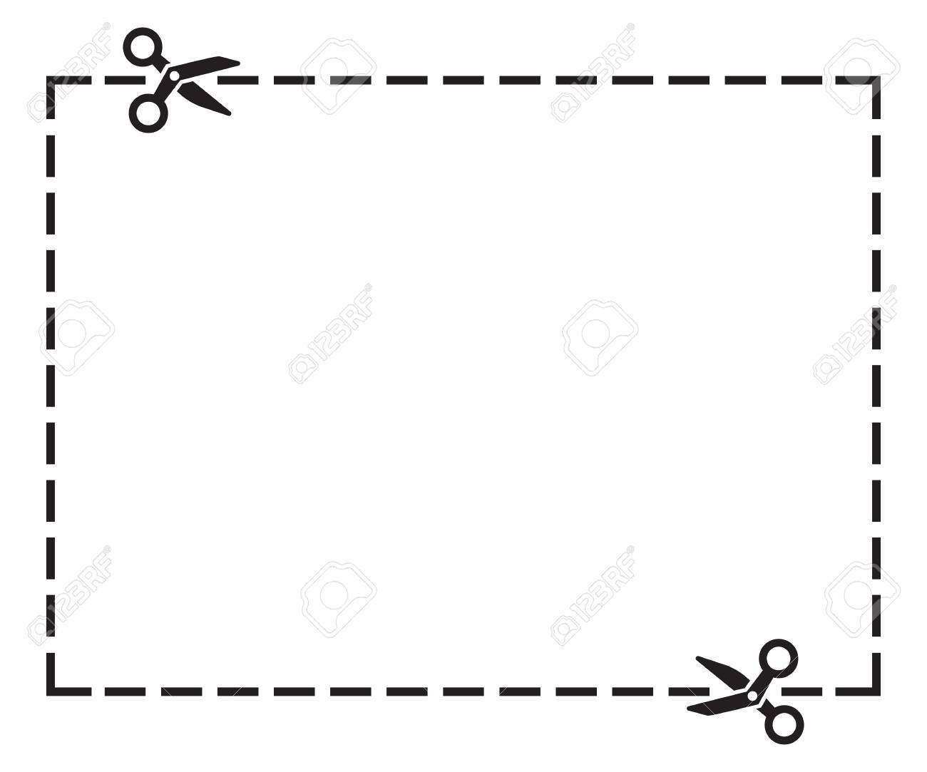 Illustration Of A Cut Out Coupon Rectangle Shape With Scissors Royalty Free Cliparts Vectors And Stock Illustration Image 88679410