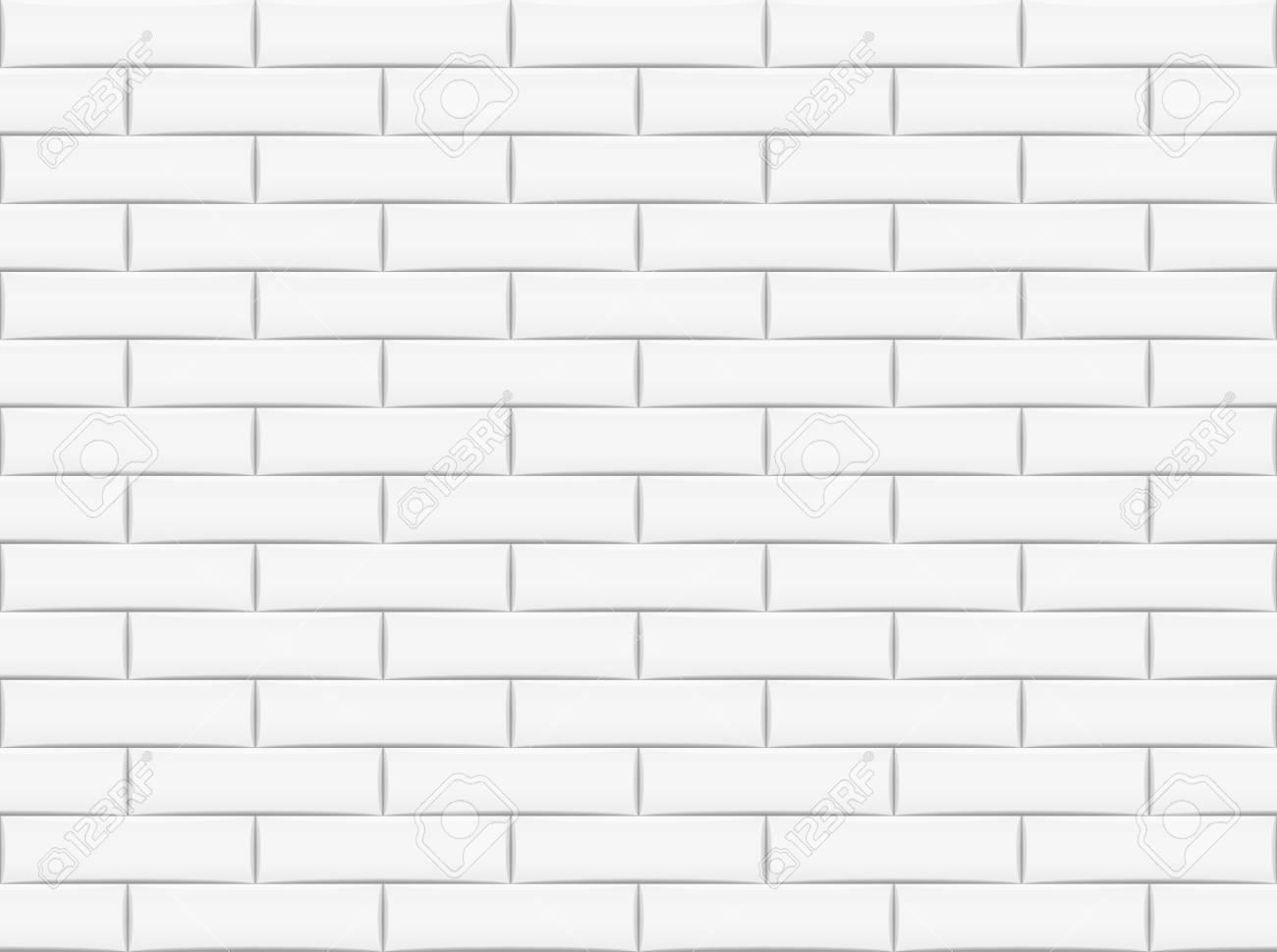Ceramic brick tile wall. Vector illustration. Eps 10. - 90924094