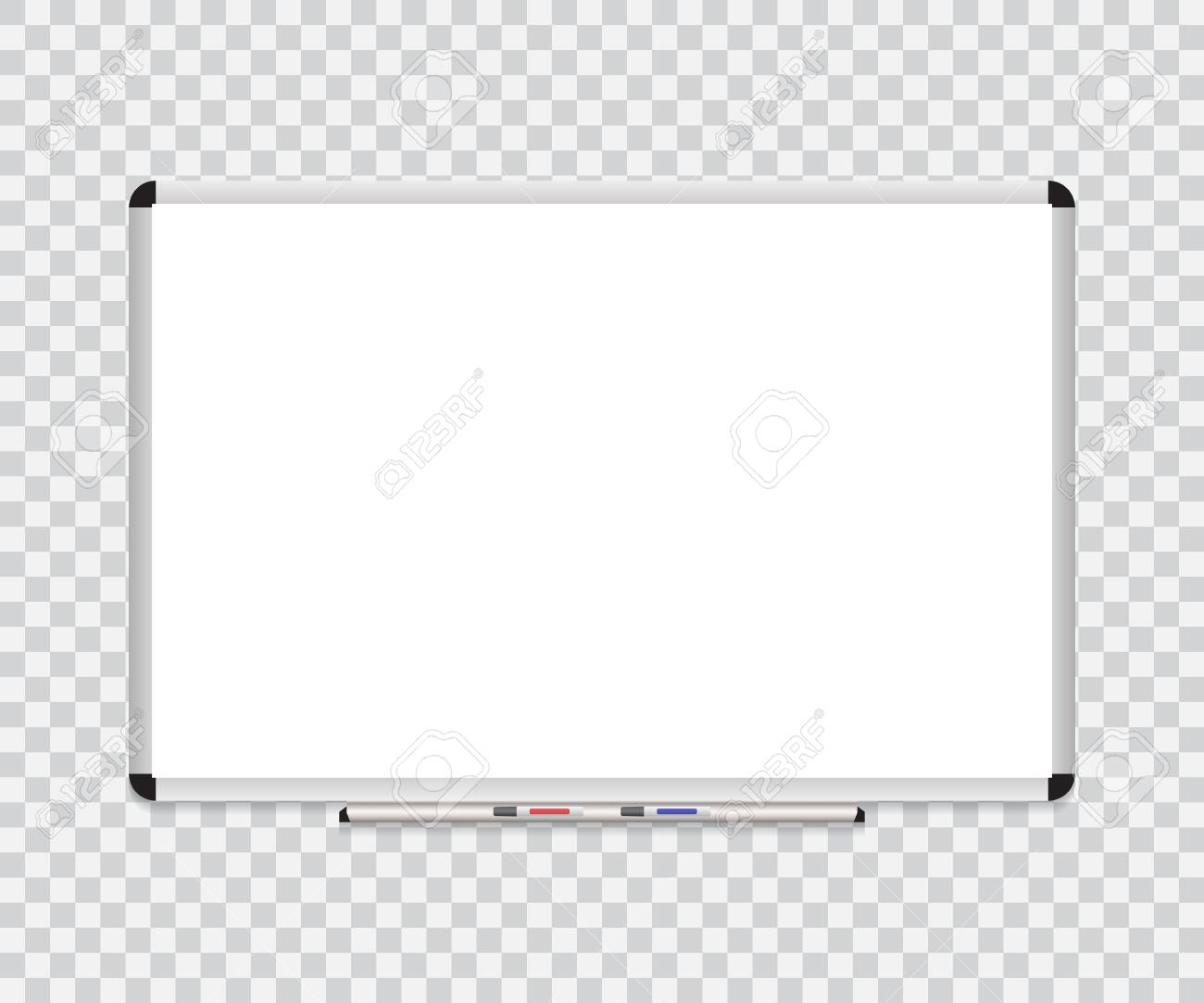 Whiteboard Background Frame With Eraser Whiteboard, Color Markers ...