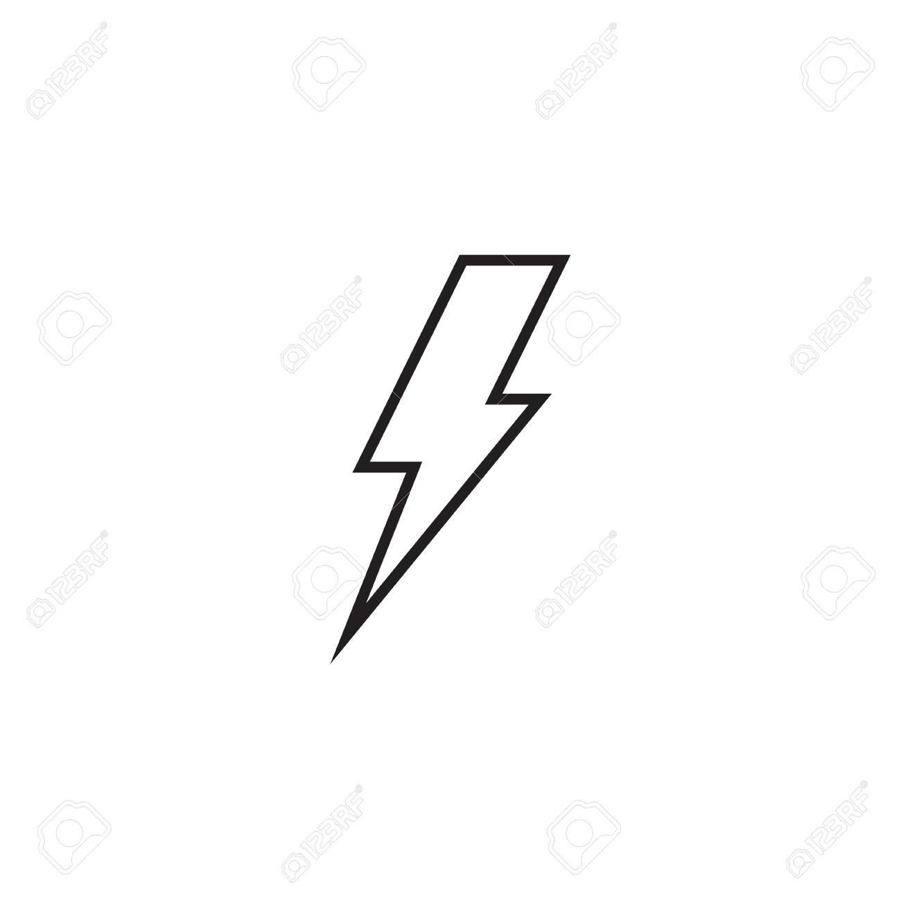 Lightning bolt line icon, outline vector sign, linear style pictogram..