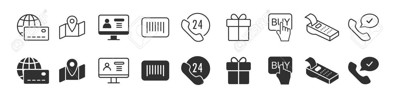 Electronics and devices icons collection in two different styles - 169885025