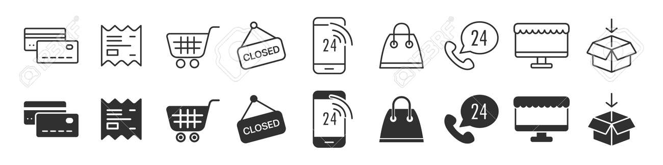 Electronics and devices icons collection in two different styles - 169885030
