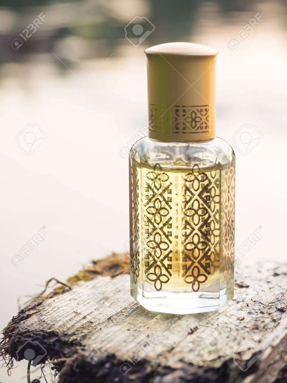 Arabian oud attar or agarwood oil fragrances in mini bottle