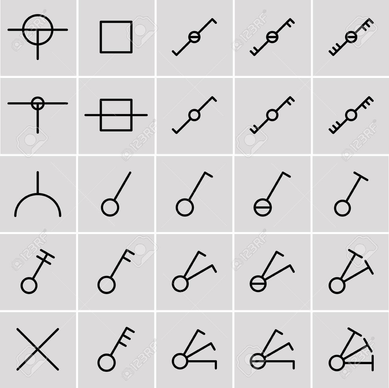 Symbole Schalter, Elektrische Symbole Lizenzfrei Nutzbare ...
