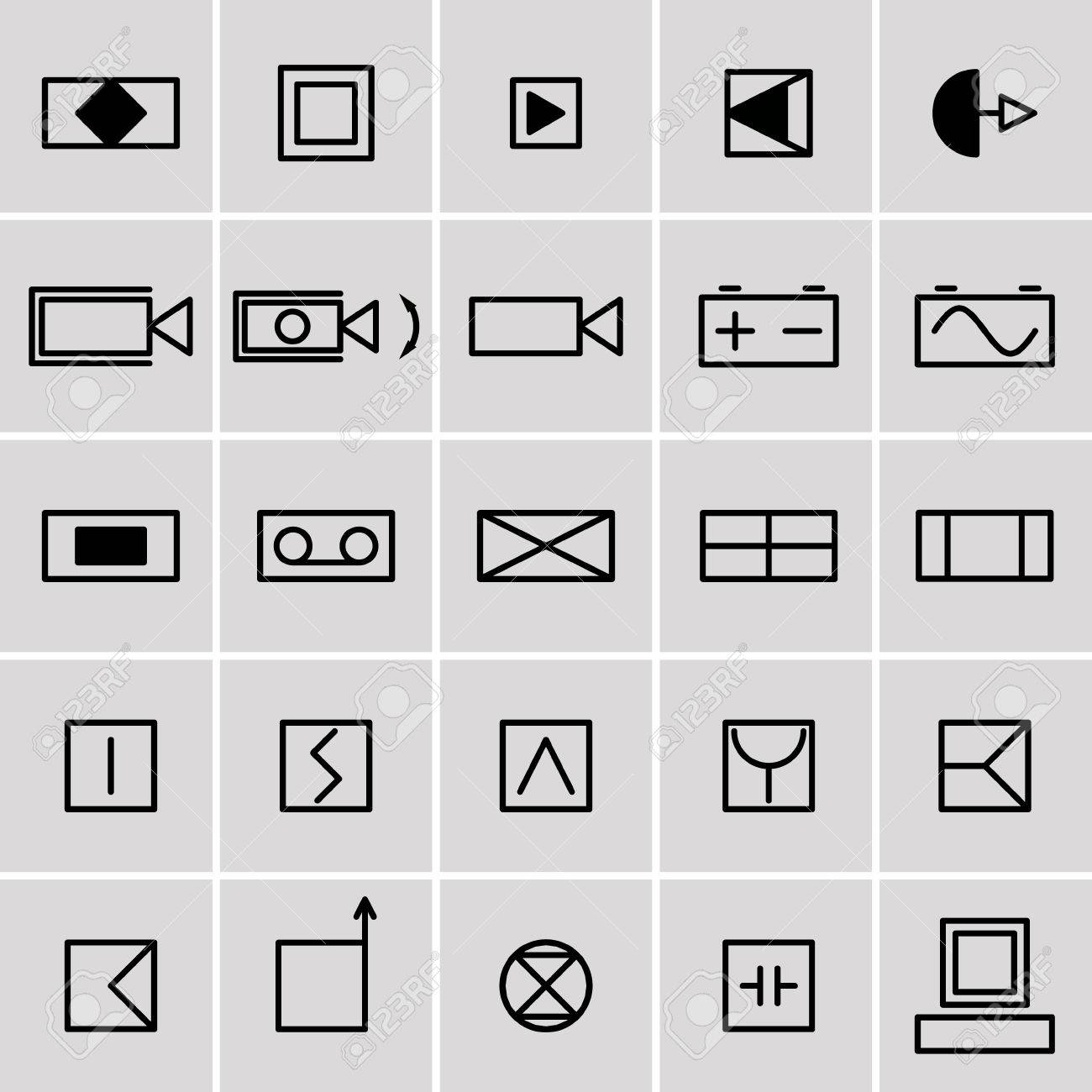Generous electrical symbol photos everything you need to know icons electrical symbols royalty free cliparts vectors and stock biocorpaavc Choice Image