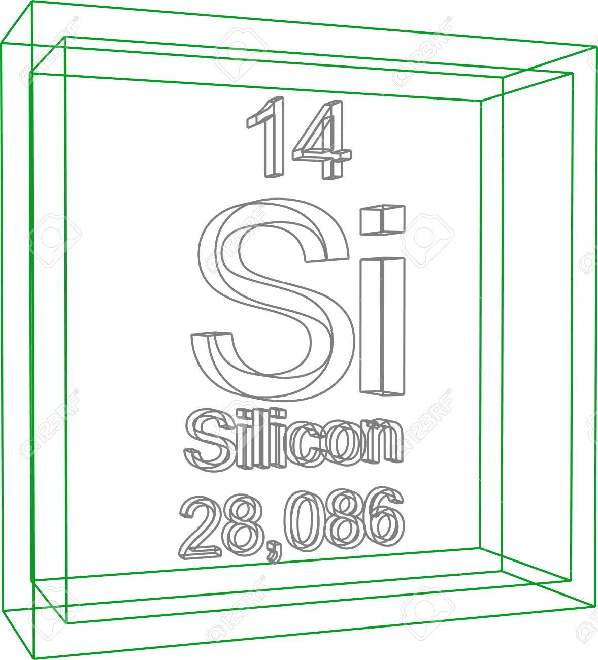 Periodic Table Of Elements - Silicon Royalty Free Cliparts, Vectors ...