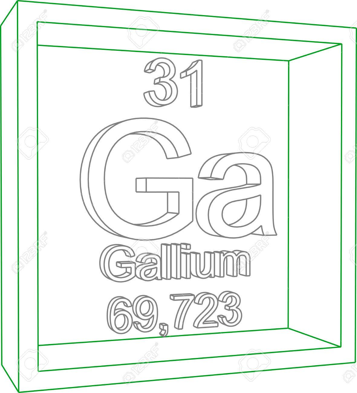 foto de archivo tabla peridica de los elementos galio - Tabla Periodica De Los Elementos Galio