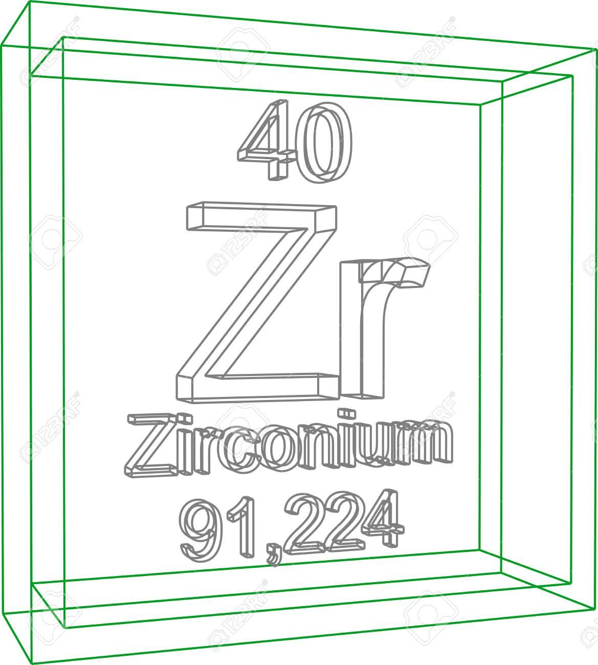 Zirconium chemical element symbol periodic map of japan and periodic table of elements zirconium royalty free cliparts 57961296 periodic table of elements zirconium stock vector gamestrikefo Images