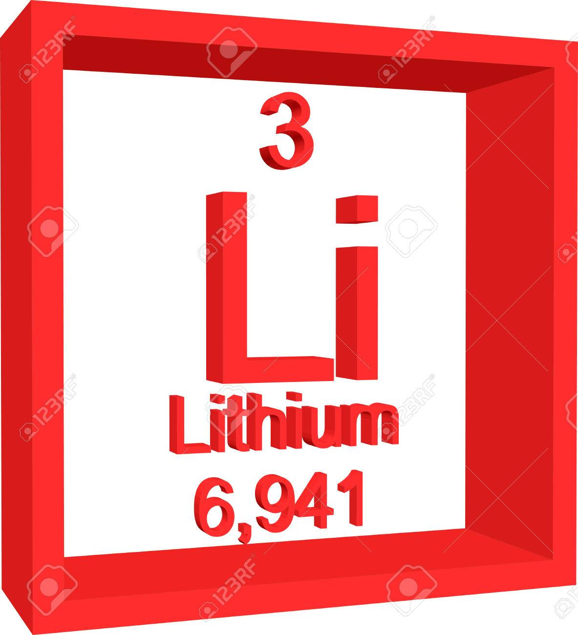 Periodic table of elements lithium royalty free cliparts vectors periodic table of elements lithium stock vector 57961298 urtaz Image collections