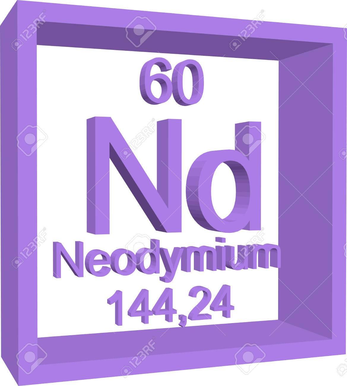 Periodic table of elements neodymium royalty free cliparts periodic table of elements neodymium stock vector 57961360 gamestrikefo Choice Image
