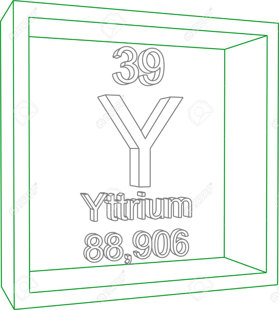 Periodic table of elements yttrium royalty free cliparts vectors periodic table of elements yttrium stock vector 57962973 urtaz Images