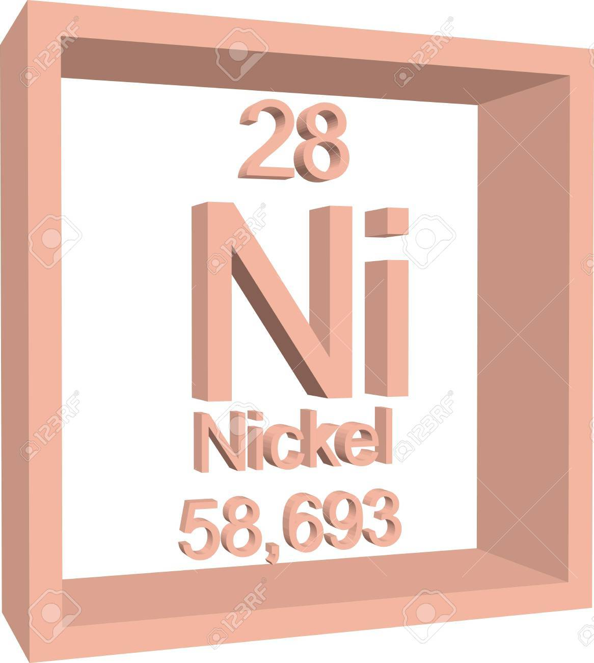 Periodic table of elements nickel royalty free cliparts vectors periodic table of elements nickel stock vector 57962862 buycottarizona Images