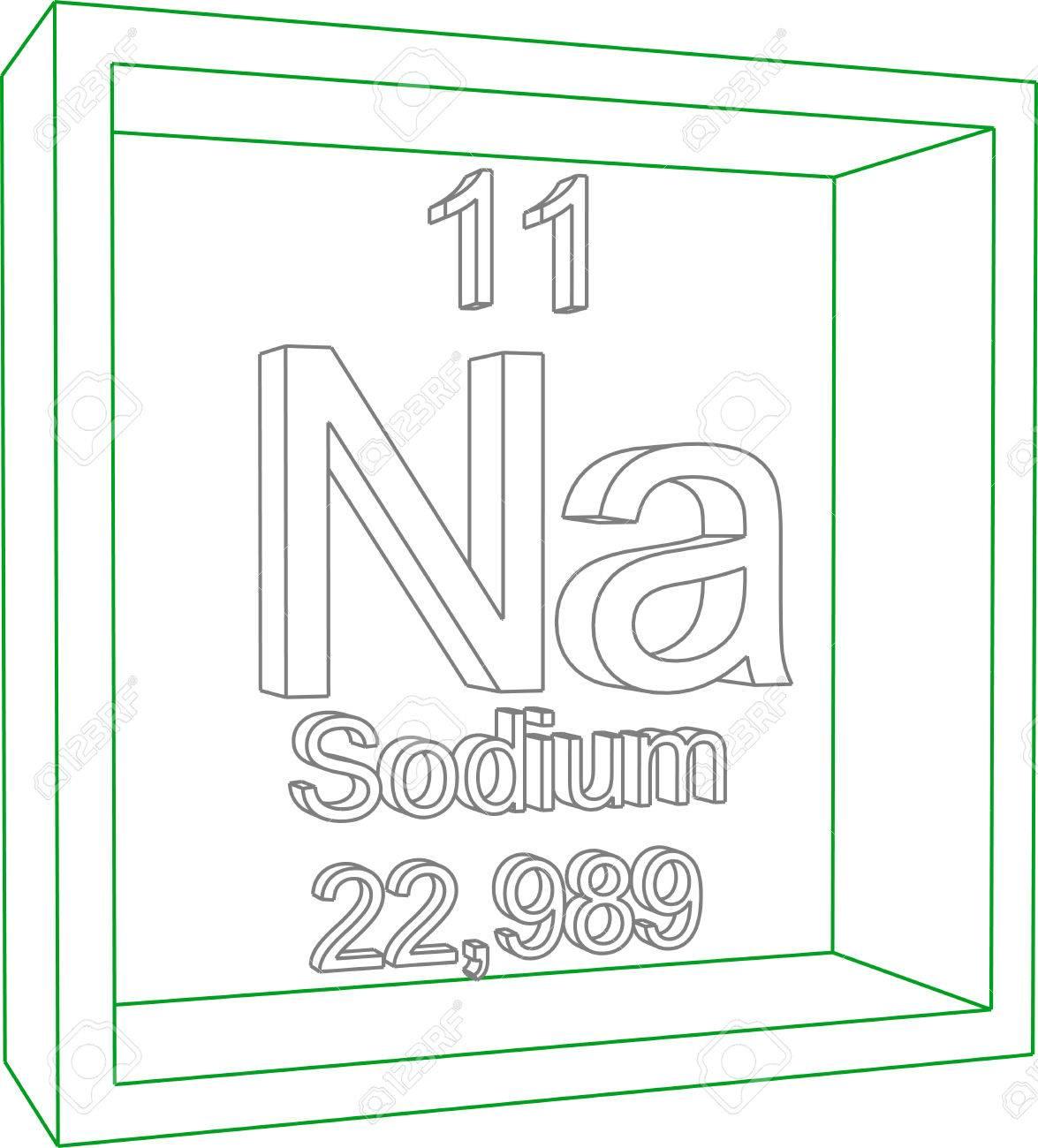 Periodic table of elements sodium royalty free cliparts vectors periodic table of elements sodium stock vector 57964857 urtaz Choice Image