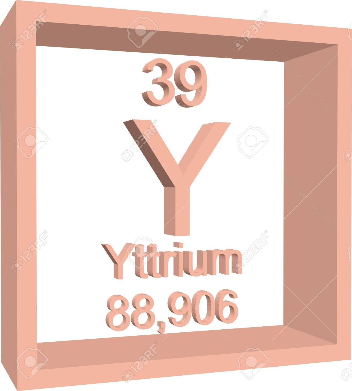 Periodic table of elements yttrium royalty free cliparts vectors periodic table of elements yttrium stock vector 57967476 urtaz Images