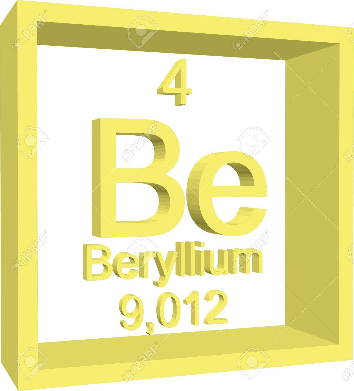 Periodic table of elements beryllium royalty free cliparts periodic table of elements beryllium stock vector 57967512 urtaz Choice Image