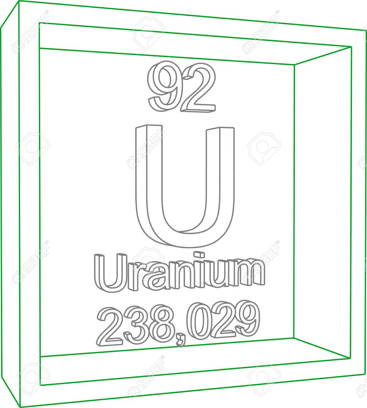 Periodic table of elements uranium royalty free cliparts vectors periodic table of elements uranium stock vector 57970196 urtaz Image collections