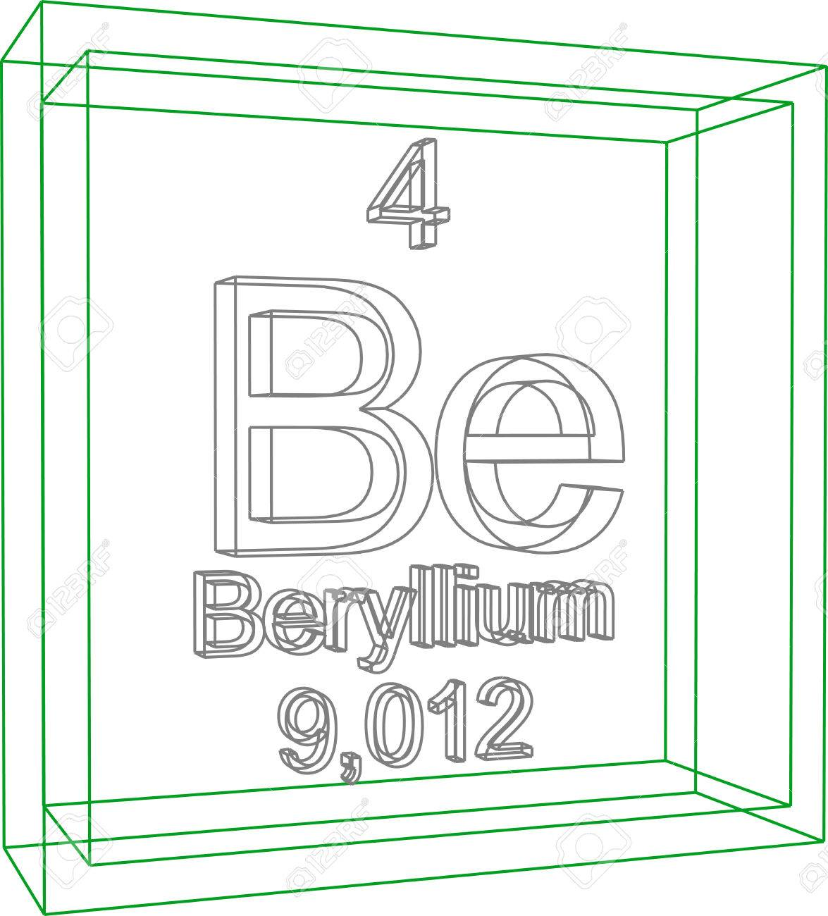Periodic table of elements beryllium royalty free cliparts periodic table of elements beryllium stock vector 57970323 urtaz