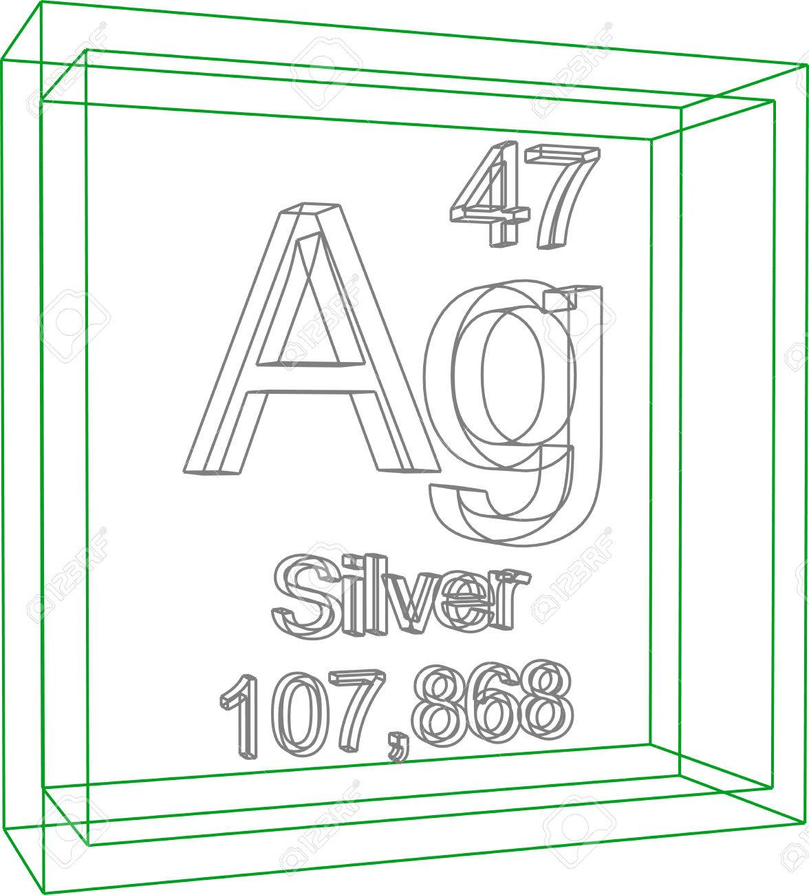 Periodic table of elements silver royalty free cliparts vectors periodic table of elements silver stock vector 57970372 urtaz