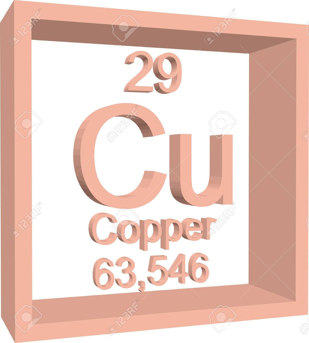 periodic table of elements copper stock vector 57970616 - Periodic Table Copper