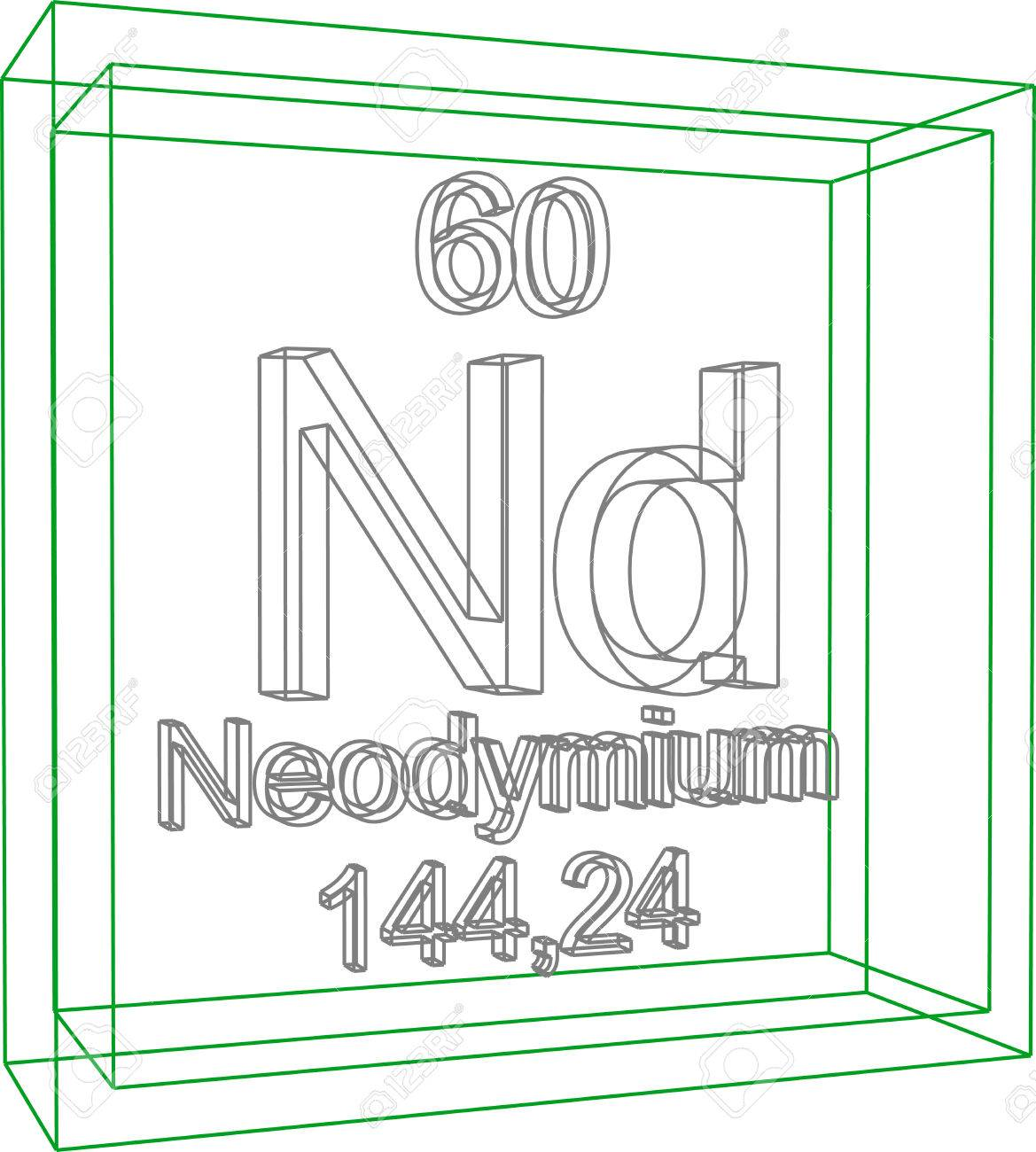 Periodic table of elements neodymium royalty free cliparts periodic table of elements neodymium stock vector 57970888 gamestrikefo Choice Image