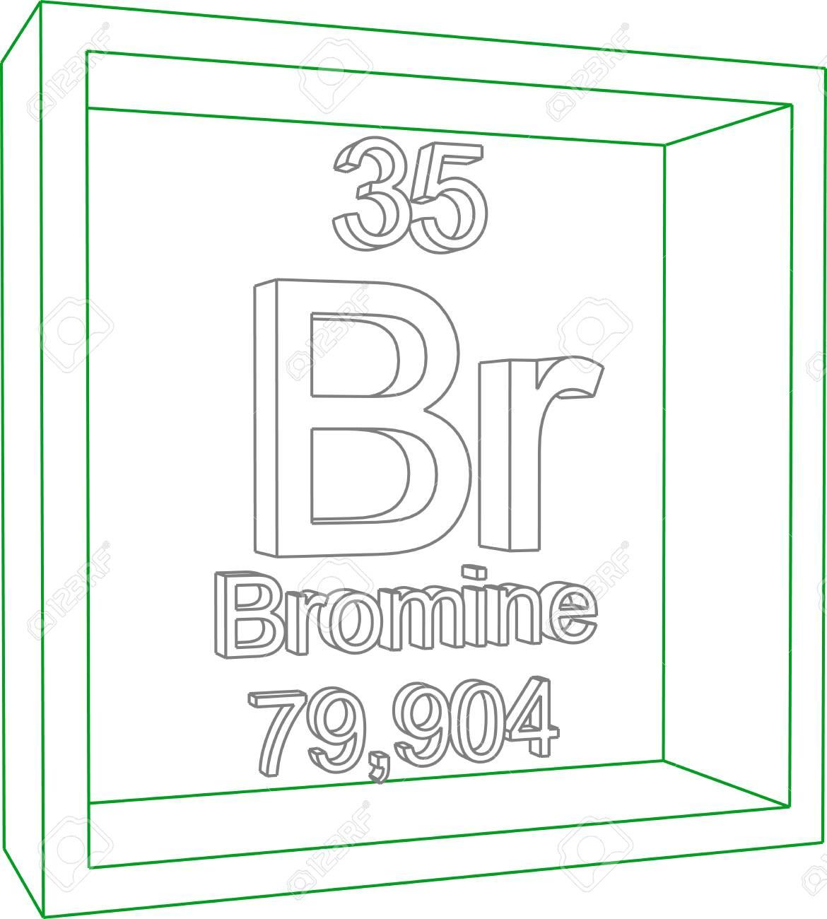 Tabla peridica de los elementos bromo ilustraciones vectoriales foto de archivo tabla peridica de los elementos bromo urtaz Images