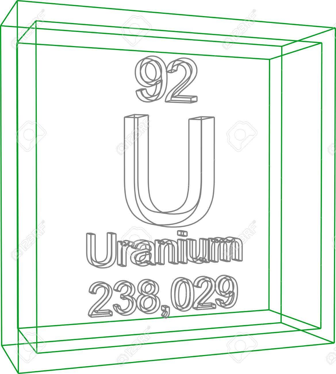 Periodic table of elements uranium royalty free cliparts vectors periodic table of elements uranium stock vector 57970975 urtaz Choice Image