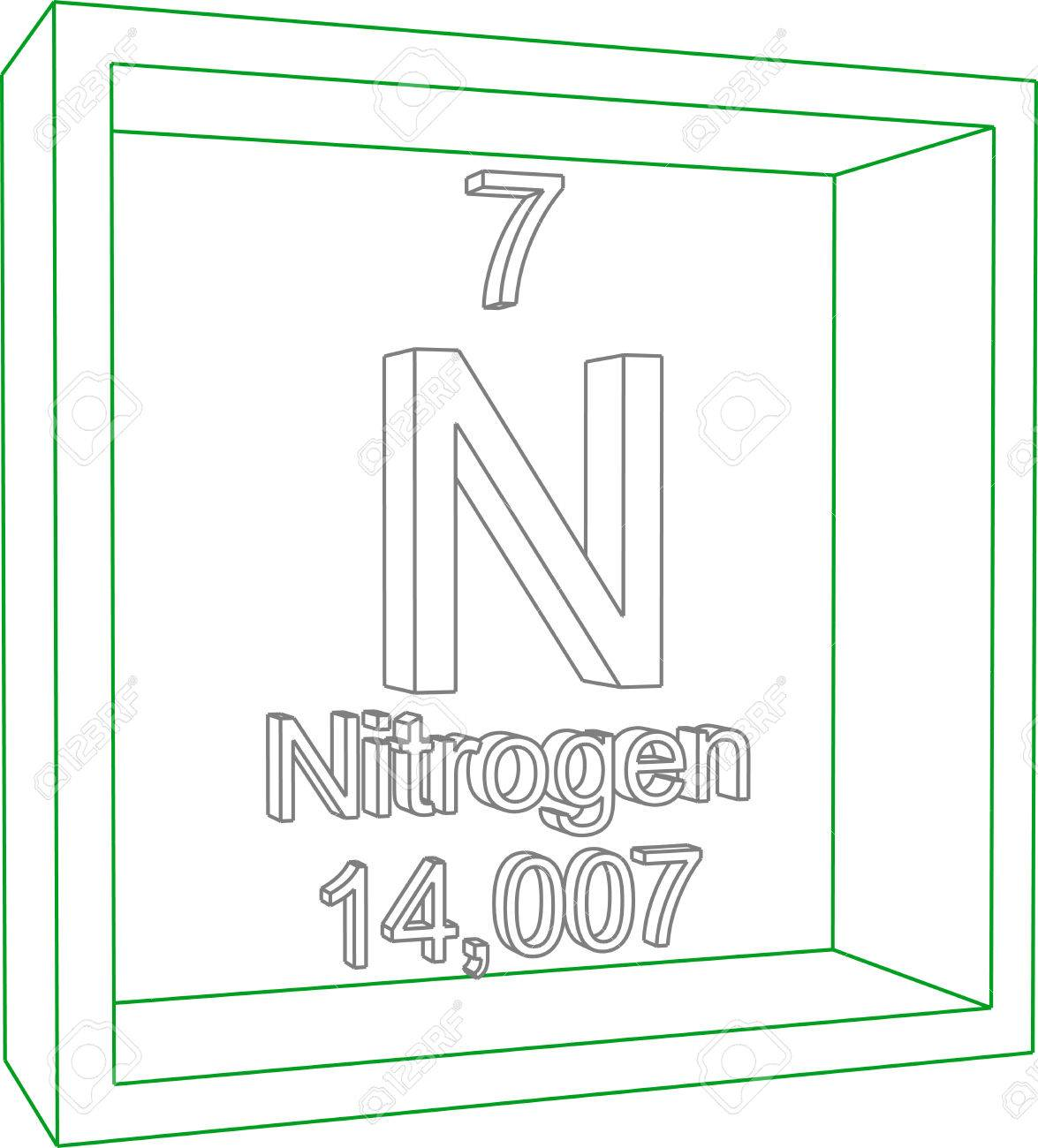 Periodic table of elements nitrogen royalty free cliparts vectors periodic table of elements nitrogen stock vector 57971389 urtaz Image collections