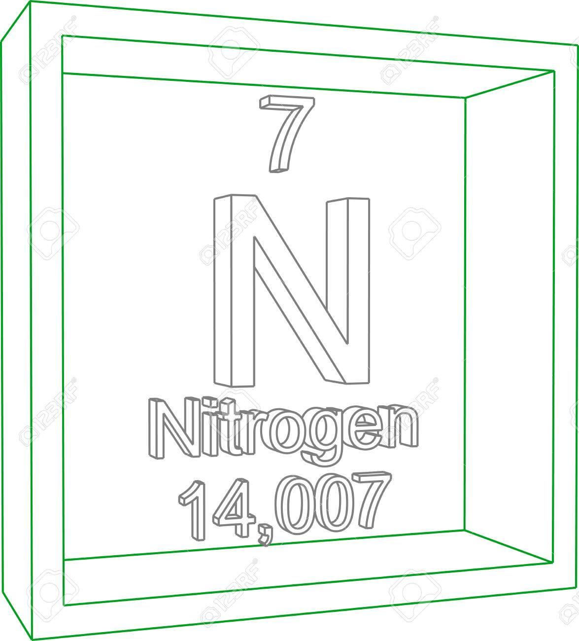 Tabla peridica de los elementos nitrgeno ilustraciones foto de archivo tabla peridica de los elementos nitrgeno urtaz Choice Image