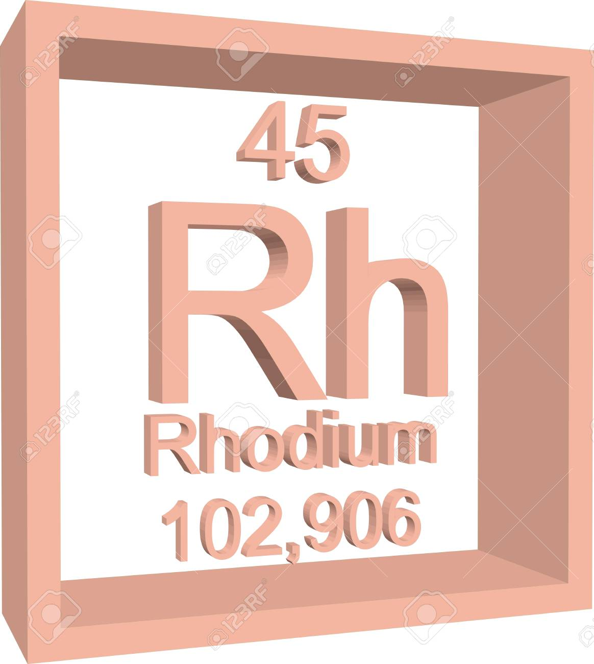 Periodic table of elements rhodium royalty free cliparts periodic table of elements rhodium stock vector 57971857 gamestrikefo Image collections