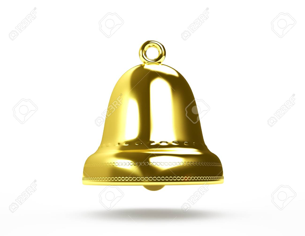 Golden bell isolated on white Stock Photo - 16489124