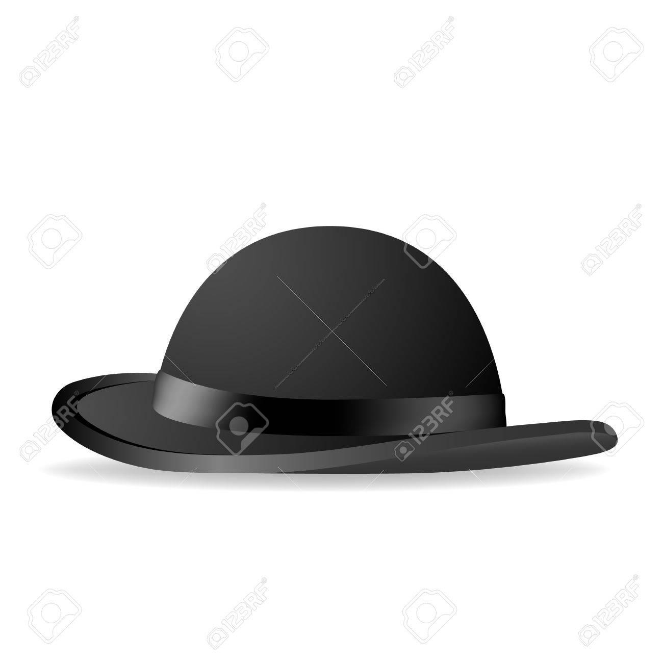 185a307e2bb04 Black bowler hat Vector illustration Stock Vector - 21823445