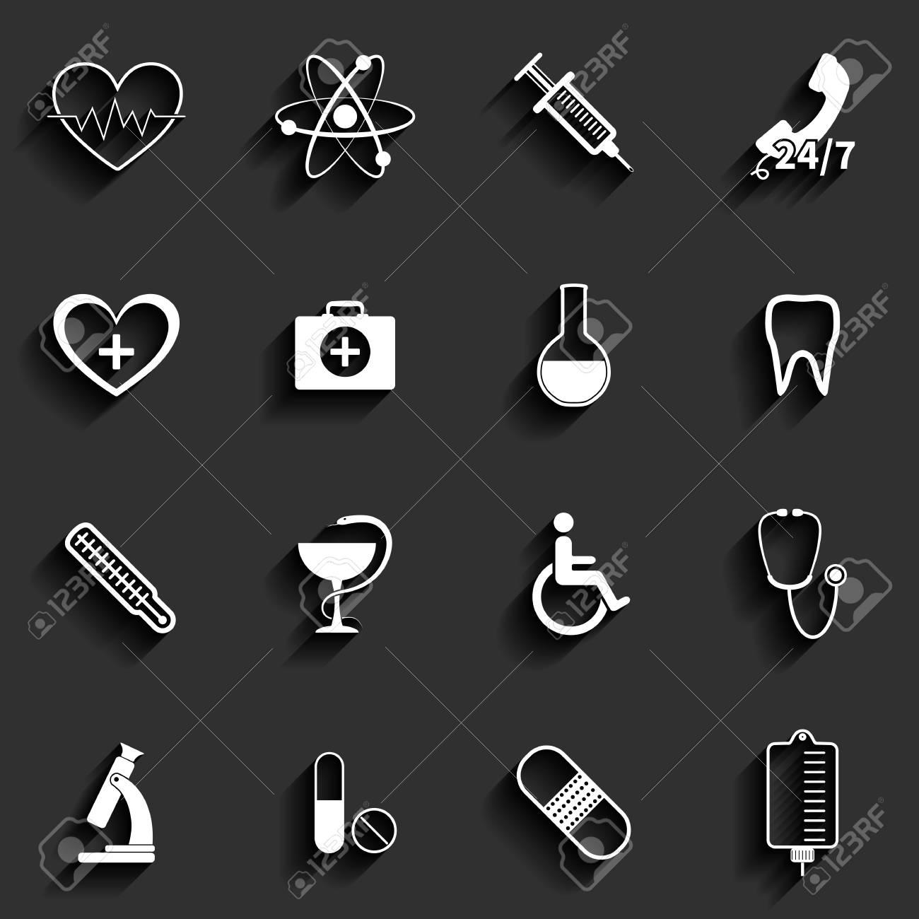 Medical vector flat icons set Stock Vector - 24206498