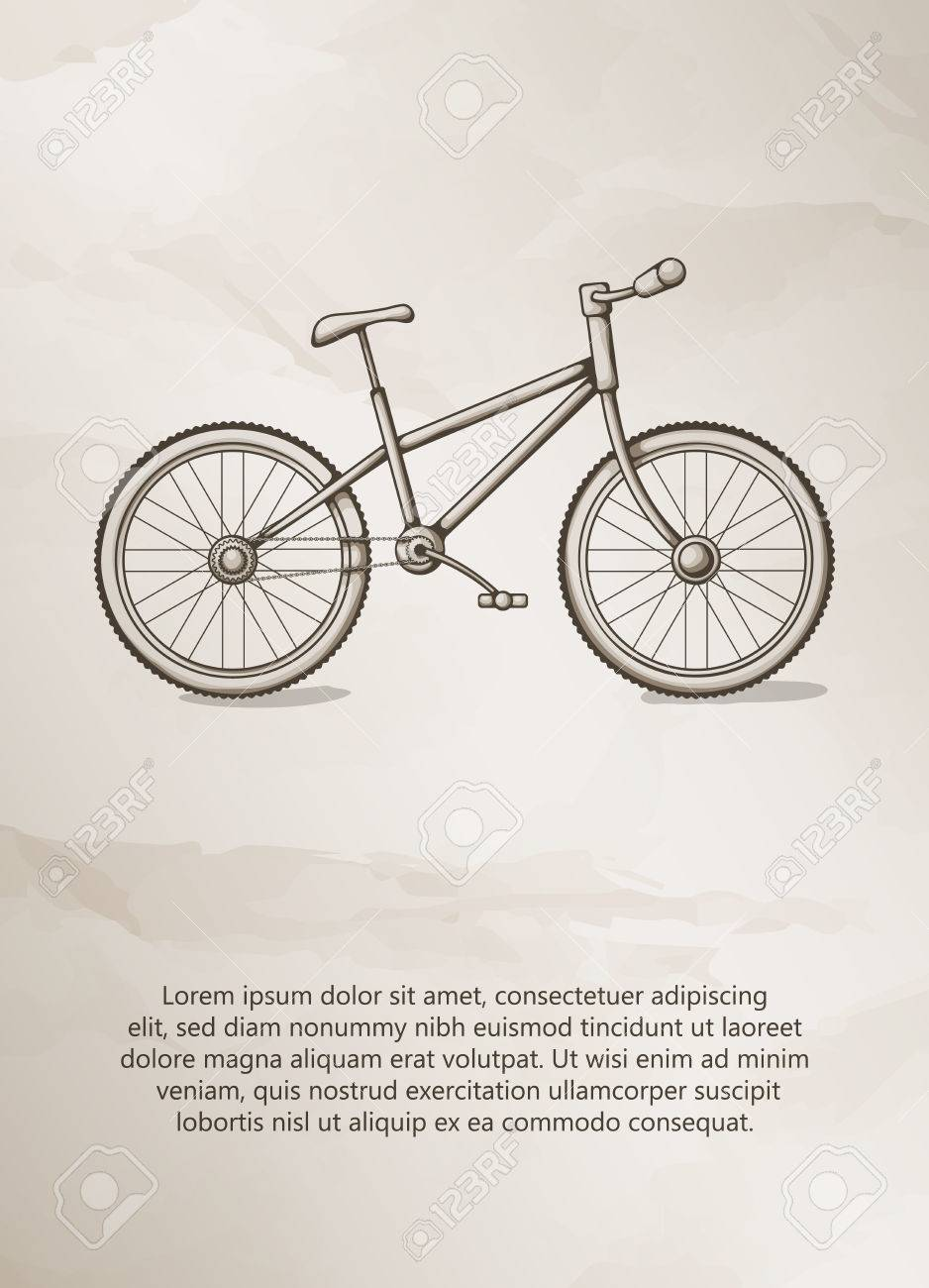 Illustration of bicycle line art logo design template stock vector.