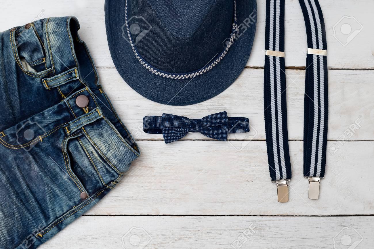 Ropa de moda de los niños y accesorios de azul para el niño