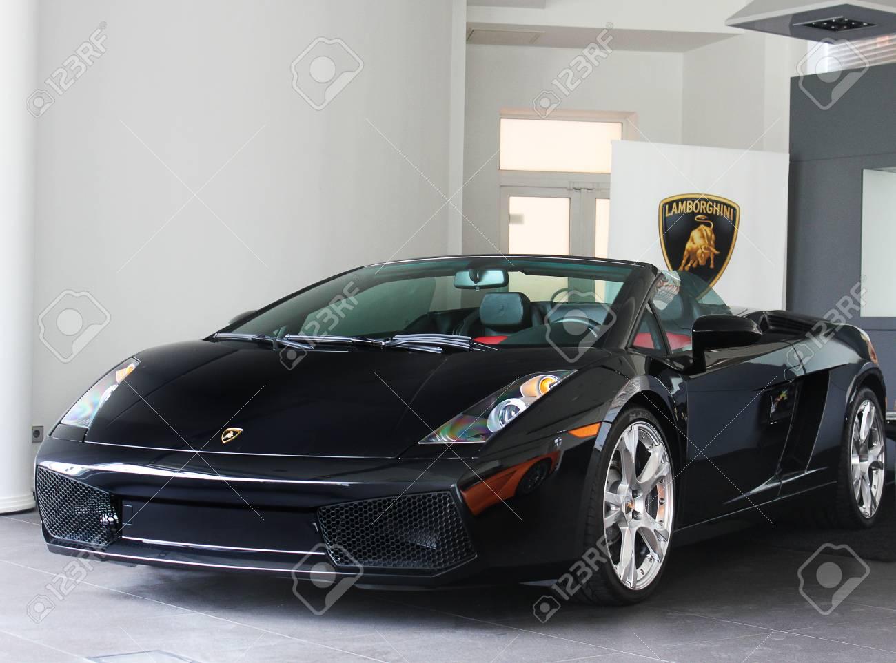 September 15 2014 Kiev Ukraine Lamborghini Gallardo Spyder