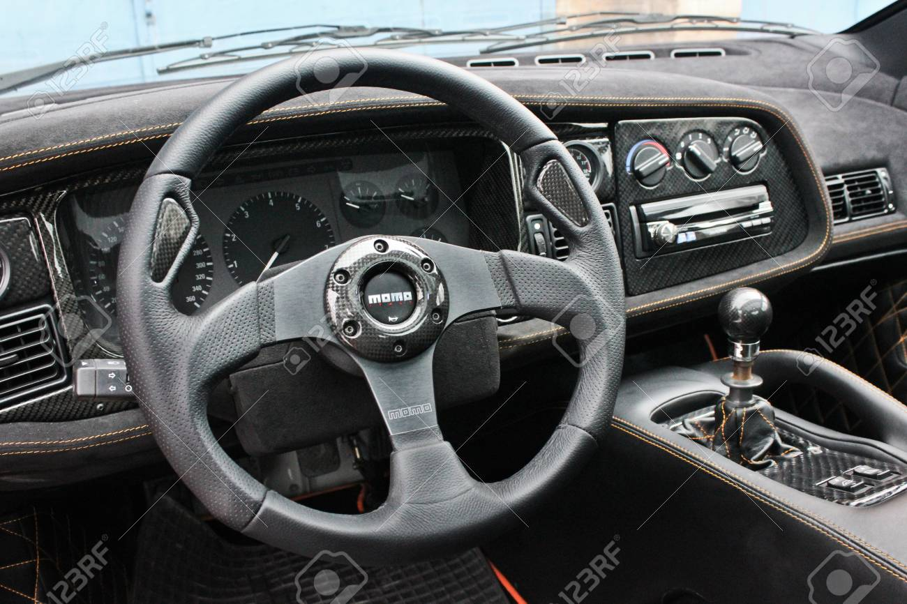 Jaguar Xj220 View Of The Interior Of A Modern Car Showing The Stock Photo Picture And Royalty Free Image Image 88012633