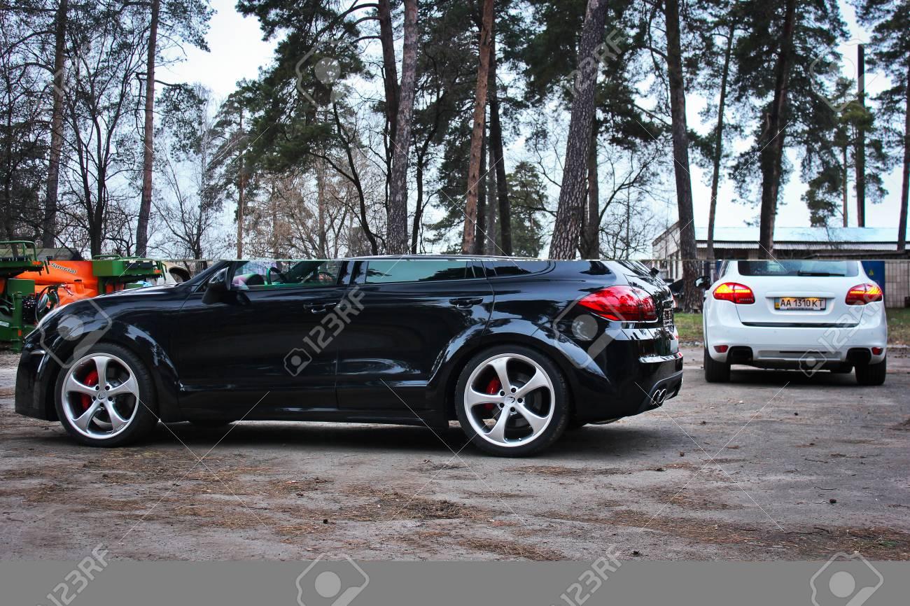 Kyiv Ukraine April 4 2015 Editorial Photo Back View Porsche