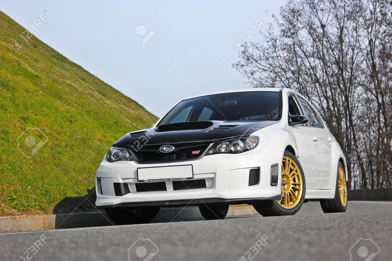 2014 Subaru Impreza Wrx Sti >> Kiev Ukraine January 20 2014 Subaru Impreza Wrx Sti On Nature